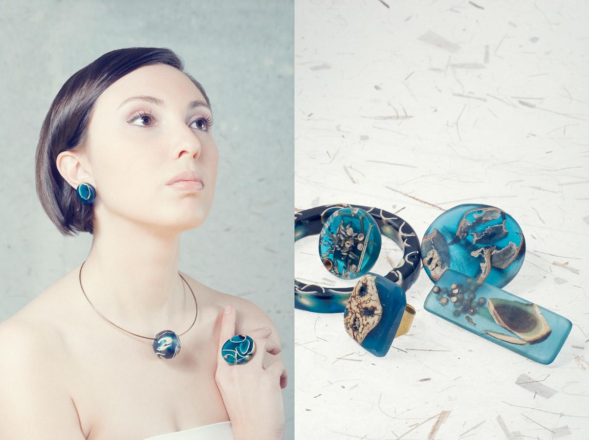 Jewellery lalu ss15, gioielli in resina